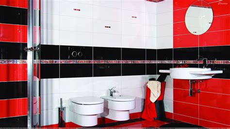red and black bathroom decor 2017 grasscloth wallpaper red and black interior of bathroom and white sinks wallpaper