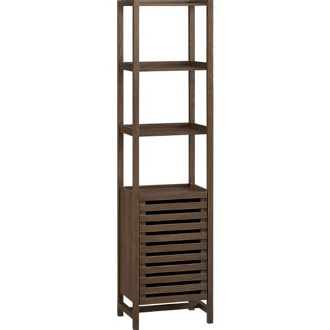 bathroom tower shelf wood freestanding open shelves bath tower