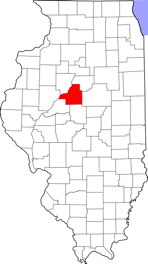 Tazewell County Il Records File Map Of Illinois Highlighting Tazewell County Svg