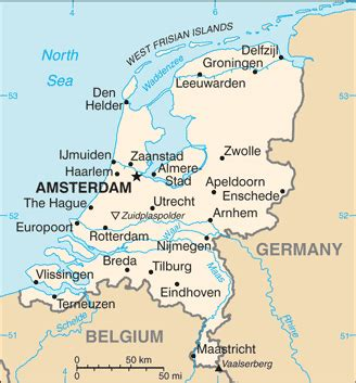 netherlands denmark map the world factbook central intelligence agency