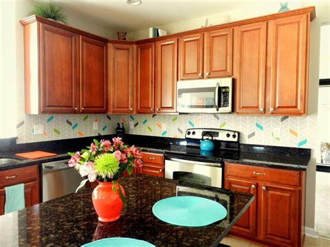 colorful backsplash hometalk colorful painted kitchen backsplash