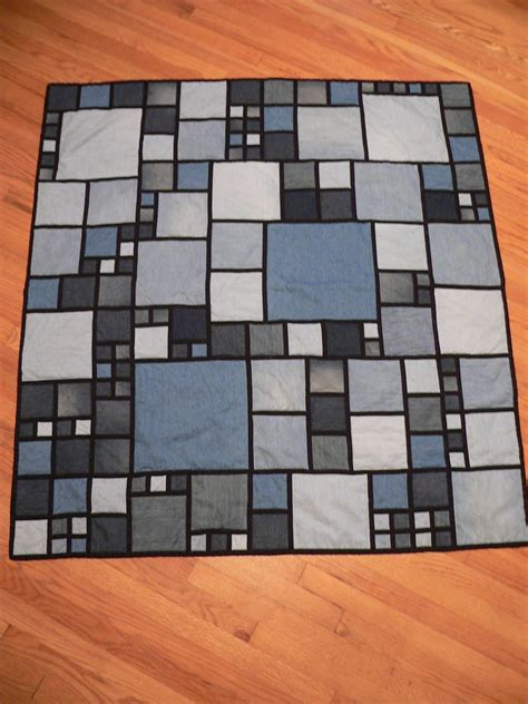 a stitcher s story the stained glass denim quilt