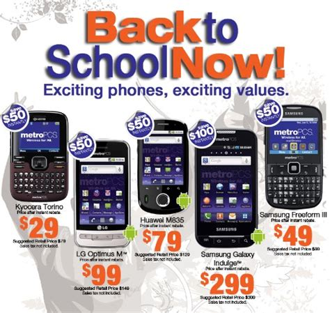 metro pcs phone sales metropcs offers a back to school cell phone promo s