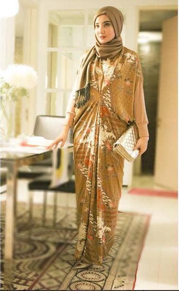 Batik Fashion Wanita Granil Span Brown Baju Pesta Batik Brokat Terbaru 2017 Style Remaja
