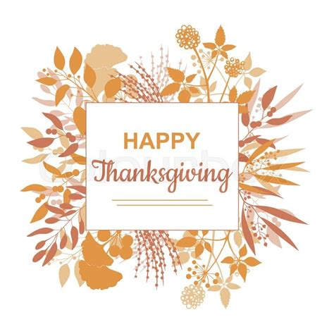 happy thanksgiving card template flat design style happy thanksgiving card template vector