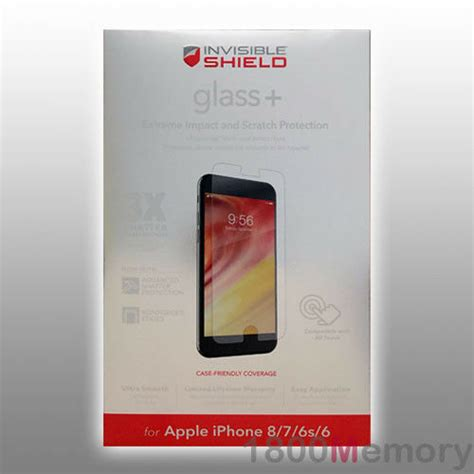 zagg invisible shield tempered glass screen protector for apple iphone 7 7s 4 7 quot ebay