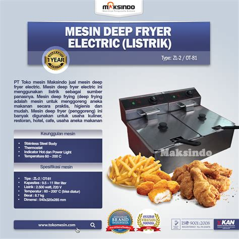 Mesin Penggorengan Fryer jual mesin fryer listrik penggoreng serbaguna di