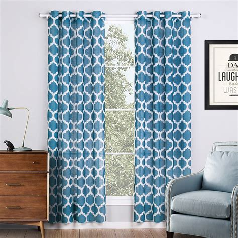 blue geometric curtains popular geometric curtains buy cheap geometric curtains
