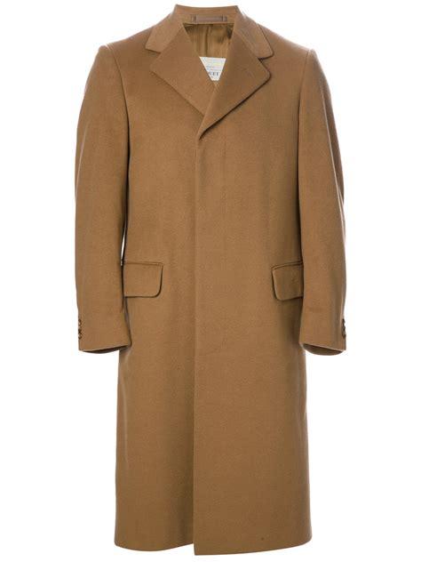 aquascutum cashmere  wool coat  brown  men lyst