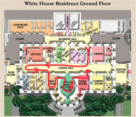 house layout description residence ground floor plan the white house pinterest