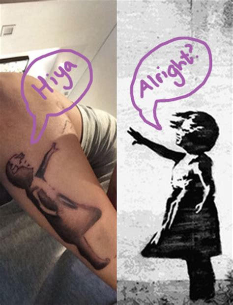 justin bieber banksy tattoo banksy reacts to justin bieber s balloon girl tribute