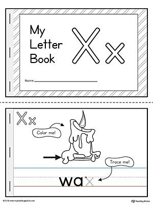 printable letter y book letter x mini book printable myteachingstation com