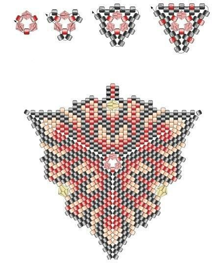 seed bead pattern software 17 best images about medallions and triangles on