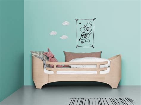 junior bed leander junior bed safety guard white mama natural