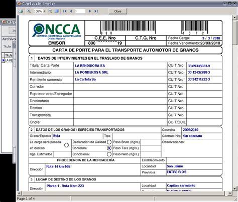 ejemplo de carta porte software para administrar cartas de porte taringa