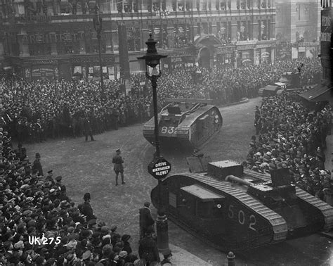 End Of 1 file tanks on parade in at the end of world war i 1918 3056450509 jpg wikimedia commons