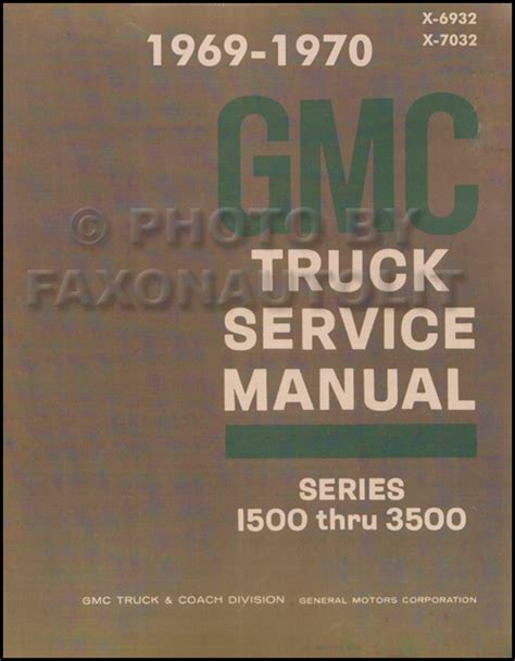 how to download repair manuals 1995 gmc 1500 electronic toll collection 1969 1970 gmc shop manual pickup truck jimmy suburban 1500 3500 service repair ebay