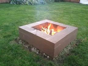 firepit blocks cinder block pit garden