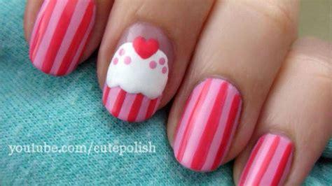 easy nail art cutepolish sweet pink cupcake nails cutepolish disney video