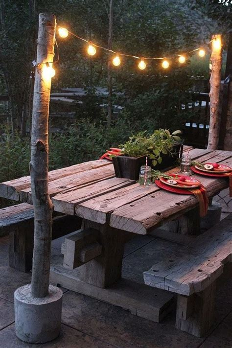 Backyard Lighting Ideas Pinterest Unique Diy String Light Poles With Concrete Base String Lights Pinterest String Lights