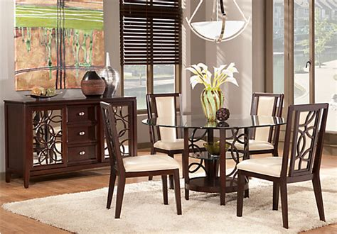 cindy crawford dining room sets cindy crawford home highland park ebony 5 pc round dining