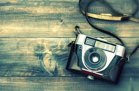 wallpaper camera instagram old film camera on wooden background top view vintage