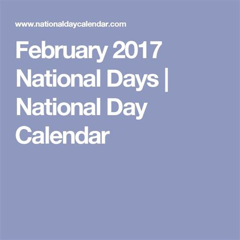 Calendar Of National Days 25 Best Ideas About National Day Calendar On