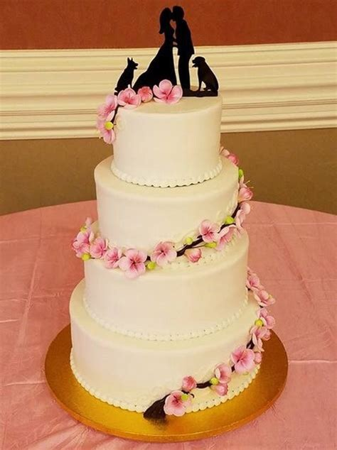 Wedding Cake Usa by Kissng With Dogs Silhouette Wedding Cake Topper