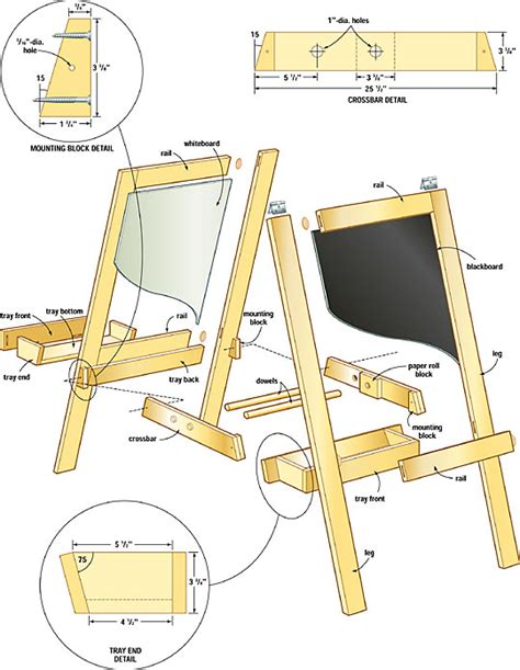 Plans For Wood Easel Pdf Woodworking