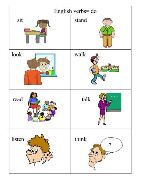 verbs doing words 4 me 2