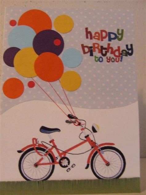 Bicycle  Ee  Birthday Ee   Card Children Bday Cards Pinterest
