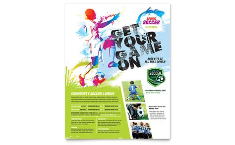 youth flyer template free youth soccer flyer template word publisher