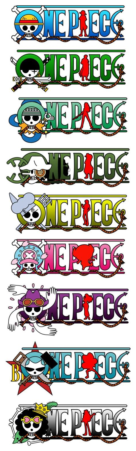 Logo Anime Luffy one logos straw hats pirate crew monkey d luffy