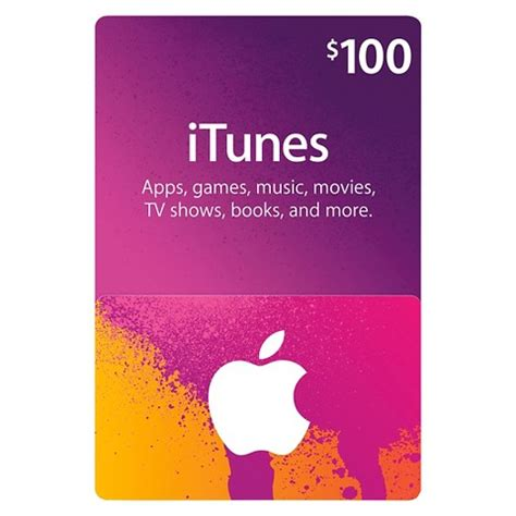 Itunes Gift Card Picture - 100 itunes gift card target