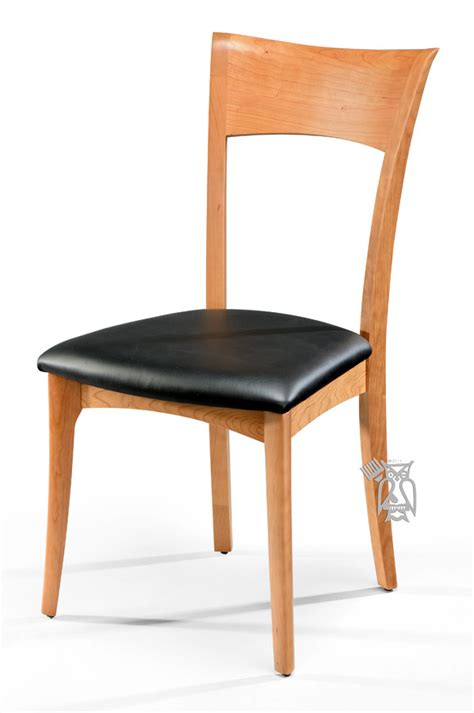 Hoot Judkins Custom Dining Solid Cherry Wood Ingrid Side Chair Solid Cherry Dining Chairs