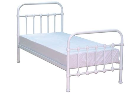 White Metal Framed Beds Bedworld Discount Darwin White Metal Bed Frame Single 90cm Bedroom Furniture Review Compare