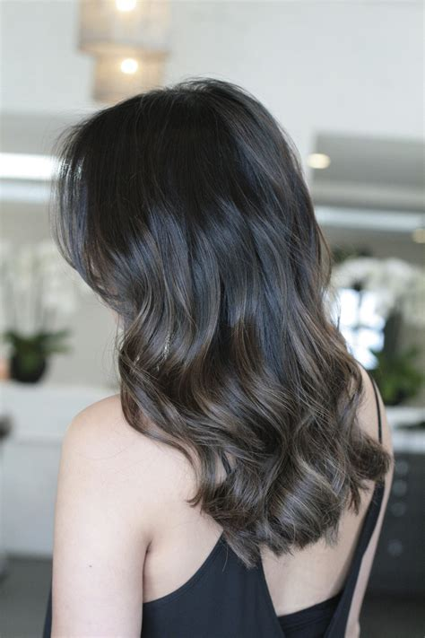 subtle ombre hair with soft waves medium ash brown hair natural brunette highlights jonathan george blog