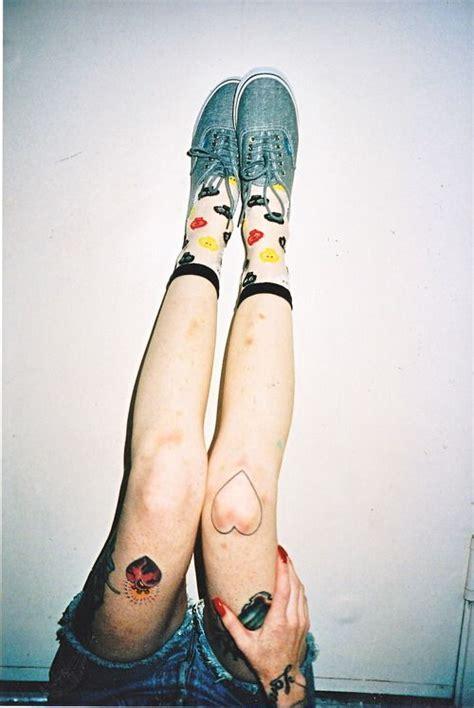girl knee cap tattoo knees tattoologist