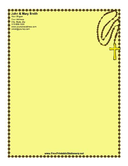 printable religious stationery christian cross stationery