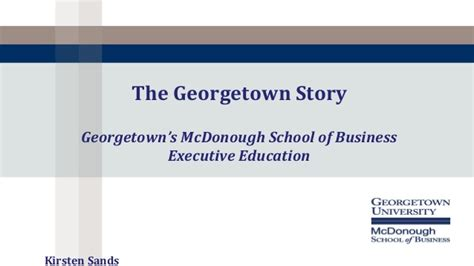 Georgetown Mba Employment Report by Georgetown And St Norbert College Improving