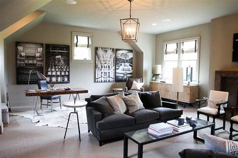 family room  office combo transitional living room