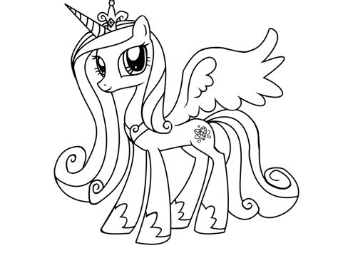 My Little Pony Coloring Pages Cadence | free coloring pages of my little pony princess celestia