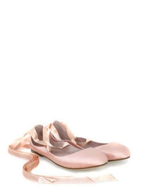 bloch womens coral pink satin ballet flats with ribbon