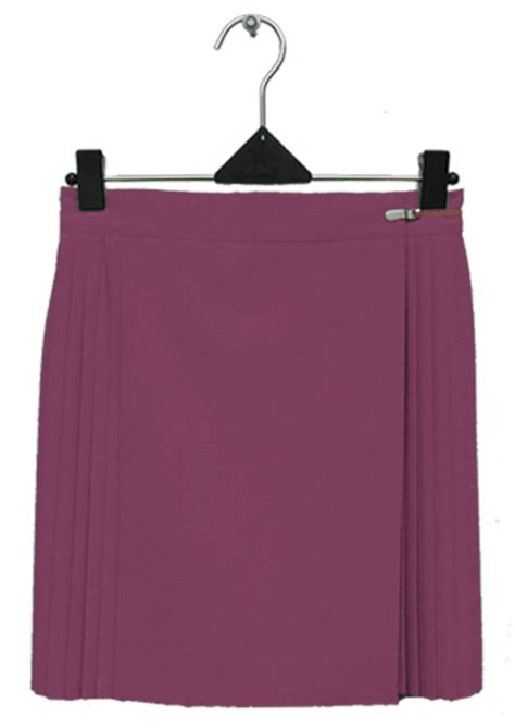 Maroon Pleated Sliders single pleat skirt microfibre the netball shop all