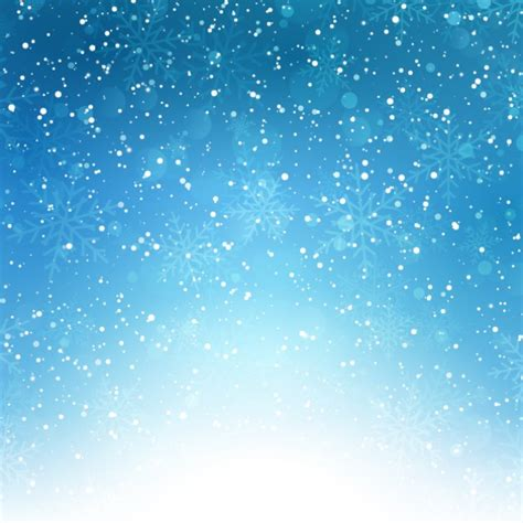 Snow Blue snowflakes on a blue bokeh background vector free