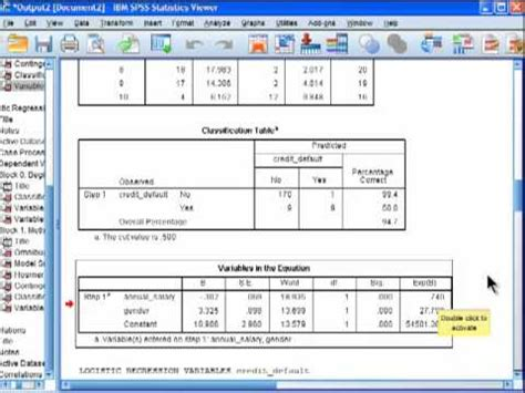 spss tutorial logistic regression logistic regression spss part 5 youtube