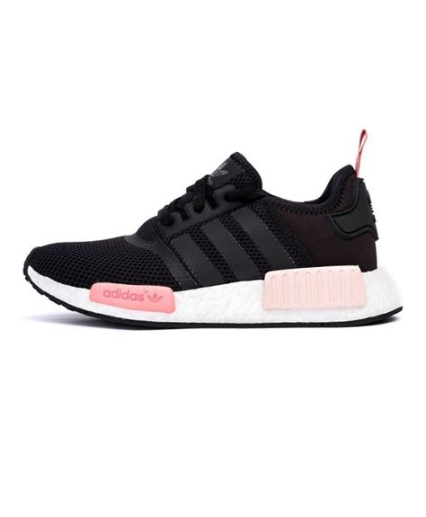 Promo Adidas Nmd Runner R1 Black Pink Premium Quality pink adidas nmd r1 uk cheap nmd pink black white khaki sale