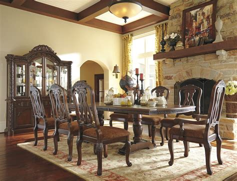 dark brown dining north shore dining table d553 55 dark brown by ashley