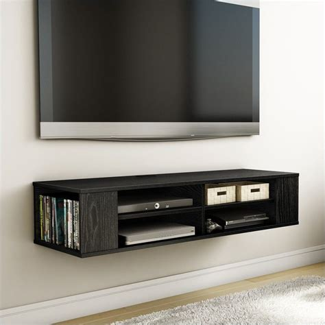 south shore city wall mounted media console in black oak south shore city wall mounted media console black oak