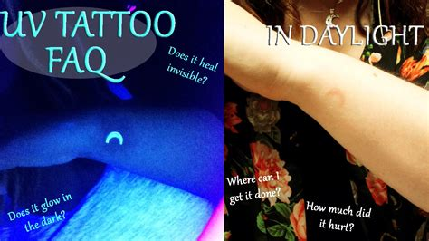 ultraviolet or uv blacklight tattoo healing experience